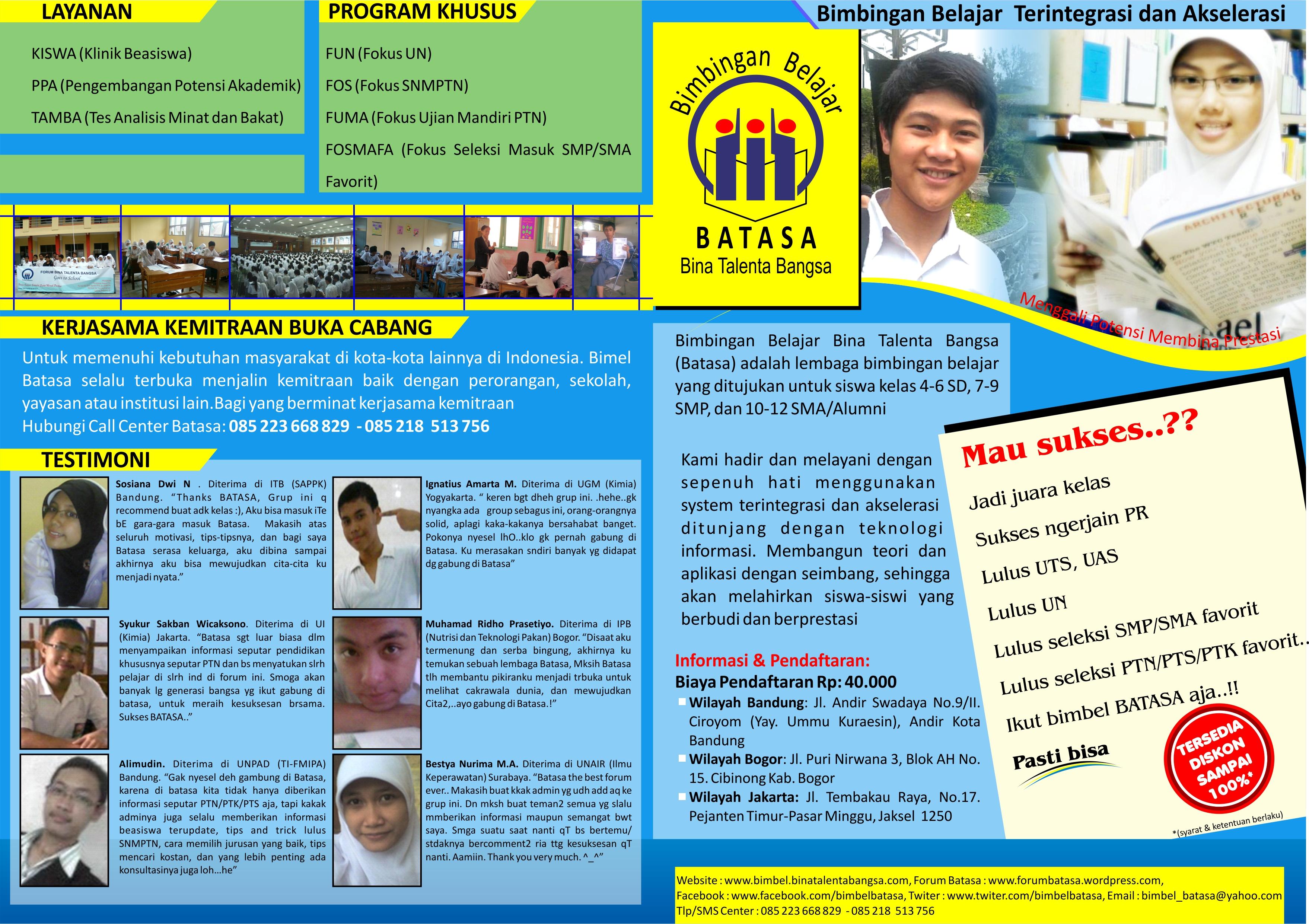 Bimbingan Belajar Di Bogor Les Privat Bandung Jabodetabek