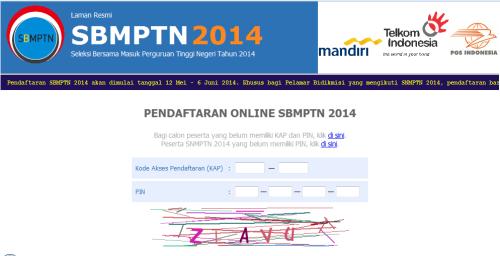 Pendaftaran SBMPTN