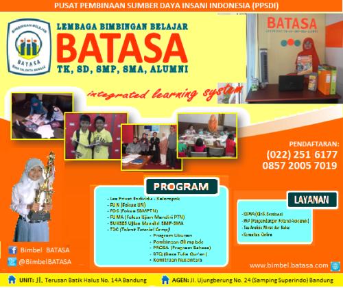 Bimbel Batasa, BimbelBandung, Les Bandung, Privat Bandung